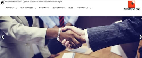 online investment platforms in Nigeria - investment one