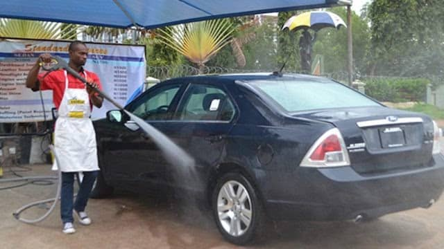 Car wash  as one of the business ideas in Nigeria